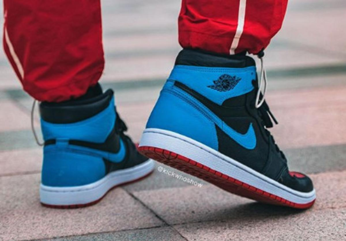 Air Jordan 1 High Og Unc To Chicago Coming Soon On Foot Photos