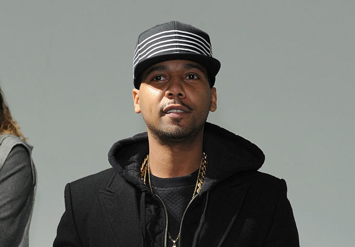 Juelz Santana performs at the Grungy Gentleman presentation during Mercedes-Benz Fashion Week Fall 2015 at Pier 59 Studios on February 15, 2015 in New York City.