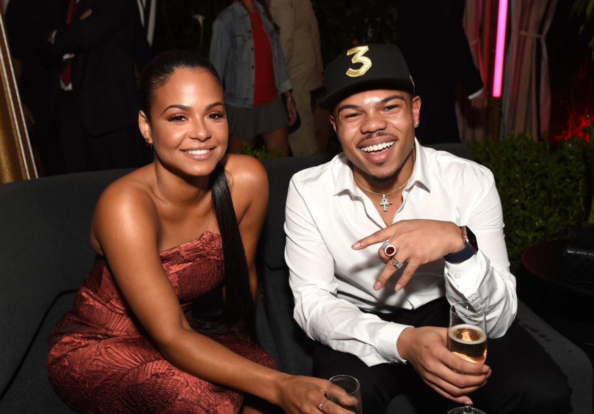 Singer-songwritter Christina Milian (L) and rapper Taylor Bennett attend GQ and Chance The Rapper Celebrate the Grammys in Partnership with YouTube at Chateau Marmont on February 12, 2017 in Los Angeles, California.