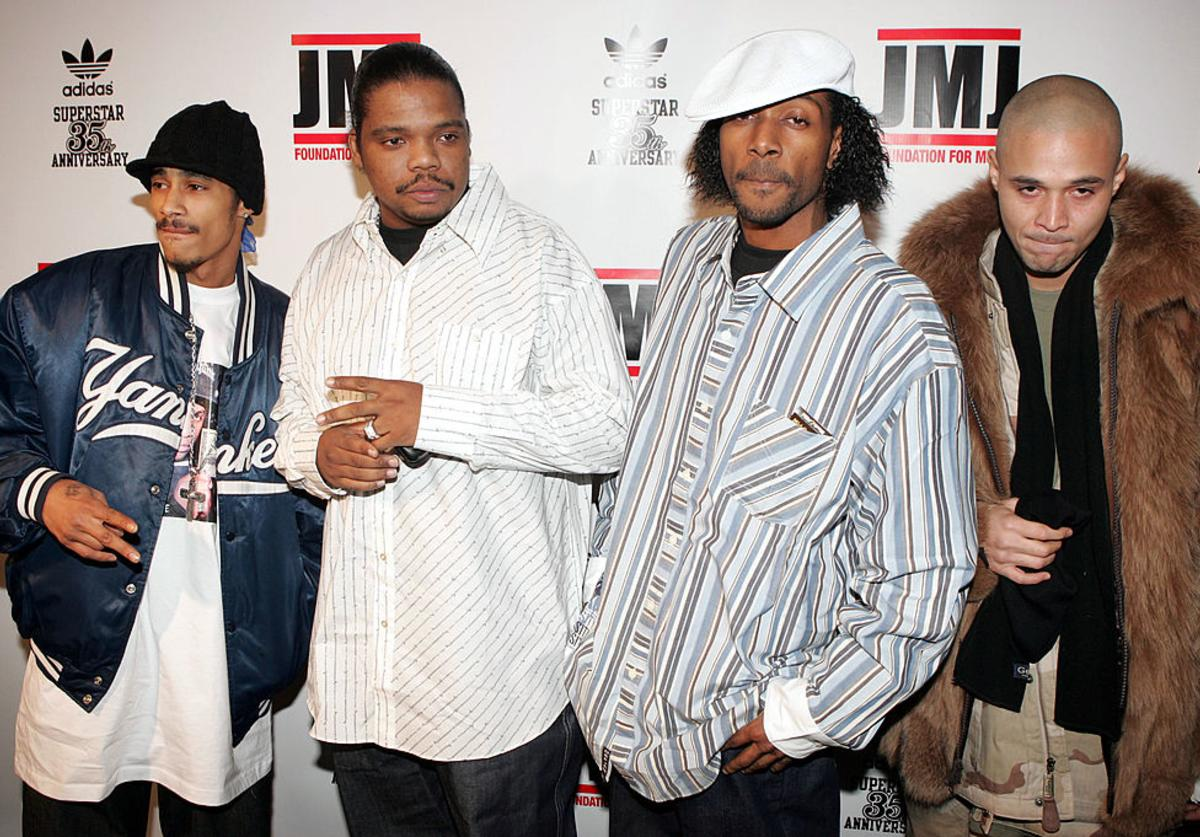 Bone Thugs -N- Harmony attend the 35th anniversary of the Adidas superstar sneaker honoring the life of Jam Master Jay on February 25, 2005 in New York City.