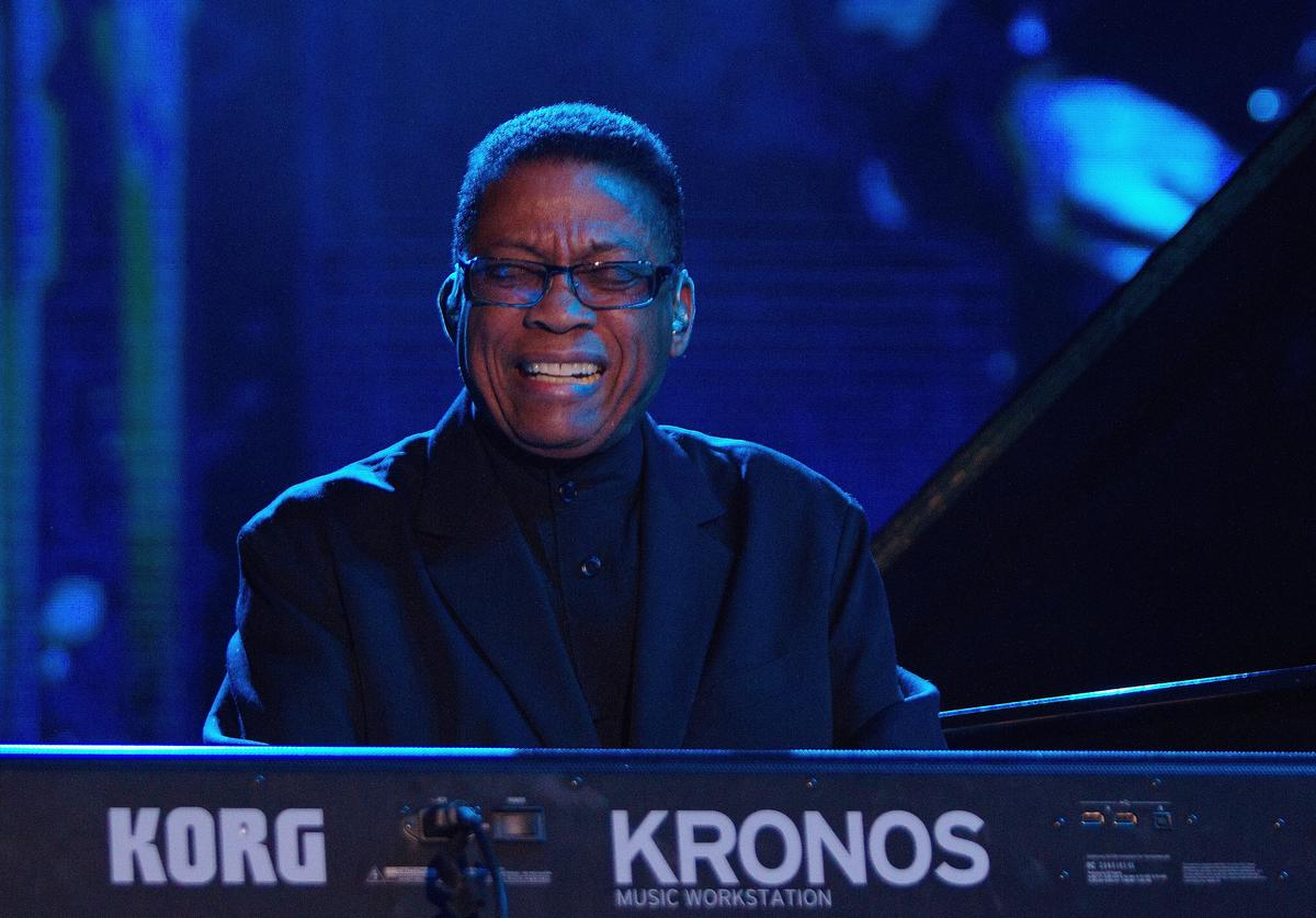 Musician Herbie Hancock performs on stage at The 12th Annual Jazz In The Gardens Music Festival - Day 1 at Hard Rock Stadium on March 18, 2017 in Miami Gardens, Florida.