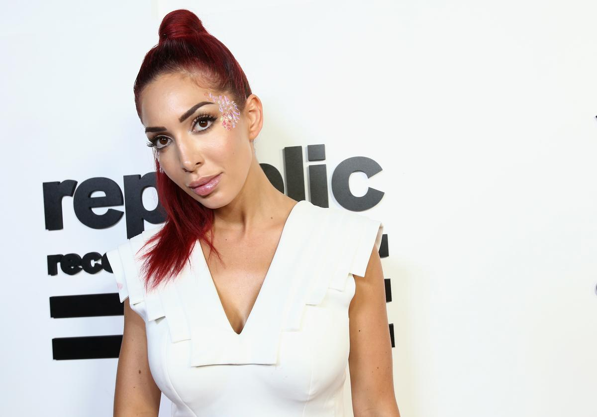Farrah Abraham attends the VMA after party hosted by Republic Records and Cadillac at TAO restaurant at the Dream Hotel on August 27, 2017 in Los Angeles, California.
