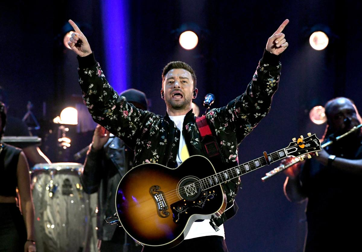 Justin Timberlake performs onstage during the 2018 iHeartRadio Music Festival at T-Mobile Arena on September 22, 2018 in Las Vegas, Nevada.