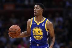 Patrick McCaw of Golden State Warriors Leaves Game On Stretcher After Hard Fall