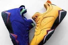 """Air Jordan 7 Low NRG Surfaces In """"Taxi"""" & """"Bright Concord"""""""