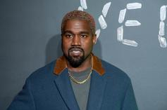 Kanye West Playfully Steals A Versace Earring From Fashion Show