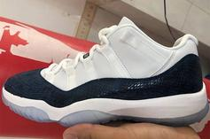 "Air Jordan 11 Low ""Navy Snakeskin"" Returning In 2019: First Look"