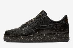 "Nike Air Force 1 ""Only Once"" Bedazzles With Gold Speckles"
