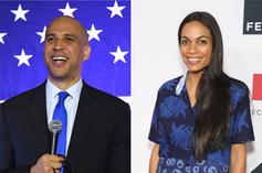 "Cory Booker Thinks Rosario Dawson As First Lady Would Be ""Incredible"""