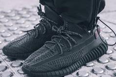 """Adidas Yeezy Boost 350 V2 """"Black"""" Releasing In June: On-Foot Photos"""
