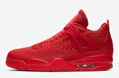 "Air Jordan 4 Flyknit ""Red"" Drops Next Week: Official Photos"