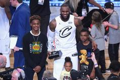 LeBron James Flexes His Home Gym With Help From Bronny & Bryce
