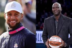 Steph Curry & Michael Jordan Chop It Up At The Ryder Cup