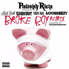 Philthy Rich - Broke Boy (Remix) Feat. Kash Doll, Ca$h Out, Troy Ave & 600Breezy (Prod. By KC Da Beatmonster)
