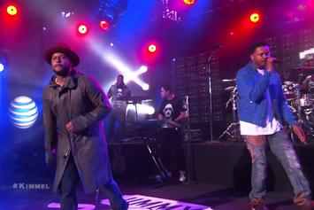 """Schoolboy Q and BJ The Chicago Kid Perform """"Studio"""" On Jimmy Kimmel"""