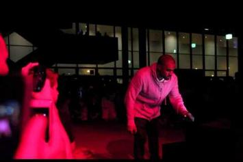 """Kanye West Performs """"New Slaves"""" Acapella In Switzerland"""