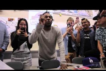 Kendrick Lamar Visits High Tech High School In New Jersey