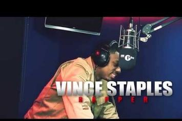 """Vince Staples """"Fire In The Booth"""" Freestyle"""