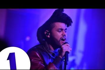 "The Weeknd Performs ""The Hills"" On BBC Radio 1 Live Lounge"