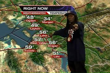 Flava Flav Gives The Weather Forecast On Local Utah News