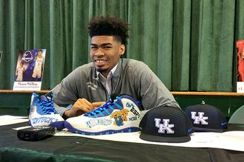 High School Basketball Recruit Announces College Commitment With Custom Air Jordans