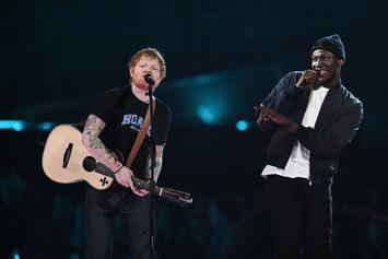 """Stormzy Joins Ed Sheeran Onstage For """"Shape Of You"""" At The Brit Awards"""
