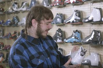 "Watch Post Malone Go ""Sneaker Shopping"" At Flight Club LA"