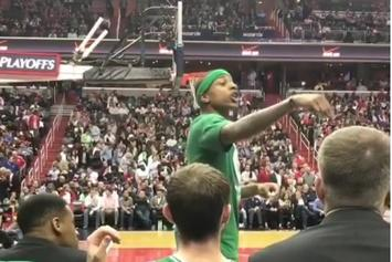 """Watch Isaiah Thomas Call Out Heckling Wizards Fan: """"I Will F*ck You Up"""""""