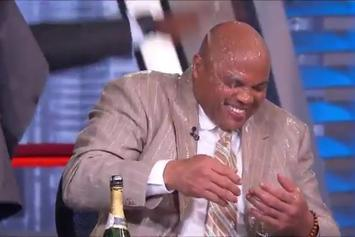 Charles Barkley Wins Sports Emmy, Gets Showered In Champagne