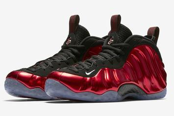 """""""Metallic Red"""" Nike Air Foamposite One Official Images, Release Info"""