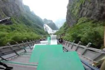 Sheesh! Watch This Guy Go Down The World's Largest Parkour Course!