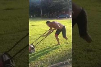 Can't Stop, Won't Stop: One Legged Man Takes Pride In Mowing His Lawn - Motivation!