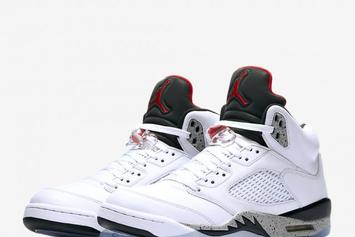 """White Cement"" Air Jordan 5 Official images + Release Details"