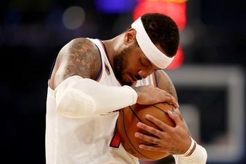 """Report: Carmelo Anthony's """"Primary Objective"""" Is To Get Traded To Houston"""