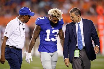 Odell Beckham Jr Injured On Low Hit, NFL Players React
