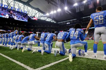 Detroit Lions' National Anthem Singer Takes A Knee While Performing