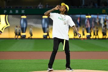 """Wiz Khalifa's First Pitch Weed Gesture """"Should Not Have Happened,"""" Says MLB"""