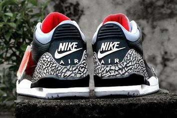 "2018 ""Black Cement"" Air Jordan 3 To Release On MJ's Birthday: First Look"