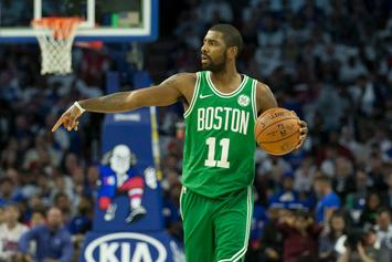 """Kyrie Irving Fined For Yelling """"Suck My D*ck"""" At Sixers Fan"""