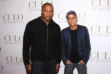 Dr. Dre & Jimmy Iovine Engage In Mogul Talk At Golden State Warriors Practice
