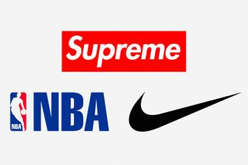 "Supreme x Nike Air Force 1 Mid ""NBA Logos"": First Look"