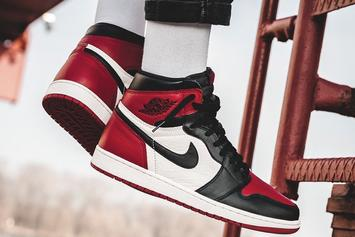 """Bred Toe"" Air Jordan 1 Releases Tomorrow: Official Images"
