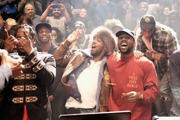 Kanye West, Kid Cudi, Mike Dean, & Plain Pat Hit The Studio Last Night