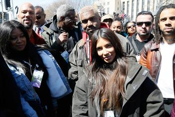"""Kanye West, Common, Vic Mensa Attend """"March For Our Lives"""" In DC"""