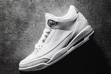 """Air Jordan 3 """"Pure White"""" New Images Surface"""