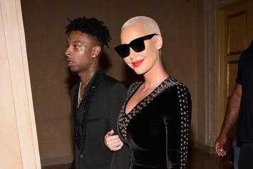 "Amber Rose Shares Love Letter To 21 Savage: ""I Love This Man So Much"""