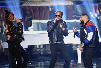 "DJ Khaled & His ""Brother"" Future Support Each Other At Las Vegas Concert"