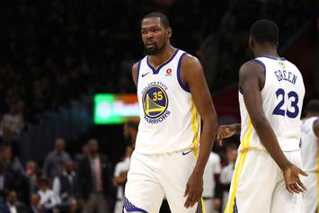 Kevin Durant Held Back From Heckling Cavs Fan