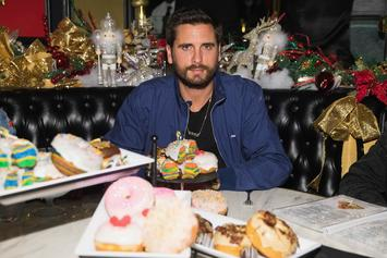 Scott Disick Spends Father's Day With Sofia Richie & His Children On The Beach