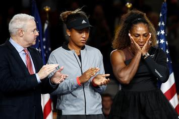"""Serena Williams Fined $17,000 For """"Verbal Abuse"""" & Smashing Her Racket"""